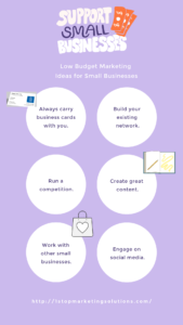 6 Small Business Marketing Tips Infographic